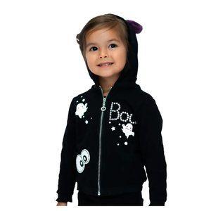Truly Me - Boo Faux Fur Ears Full Zip Hoodie